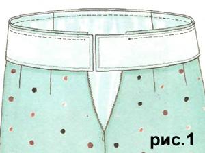 Как сделать пояс к юбке полусолнце