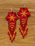 Handmade beaded jewelry: Red Long-tailed Comet
