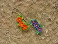 Beaded handmade jewelry: Beadwork flowers necklace