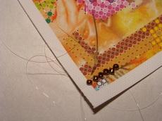 Пример вышивания нового ряда швом стебельчатым