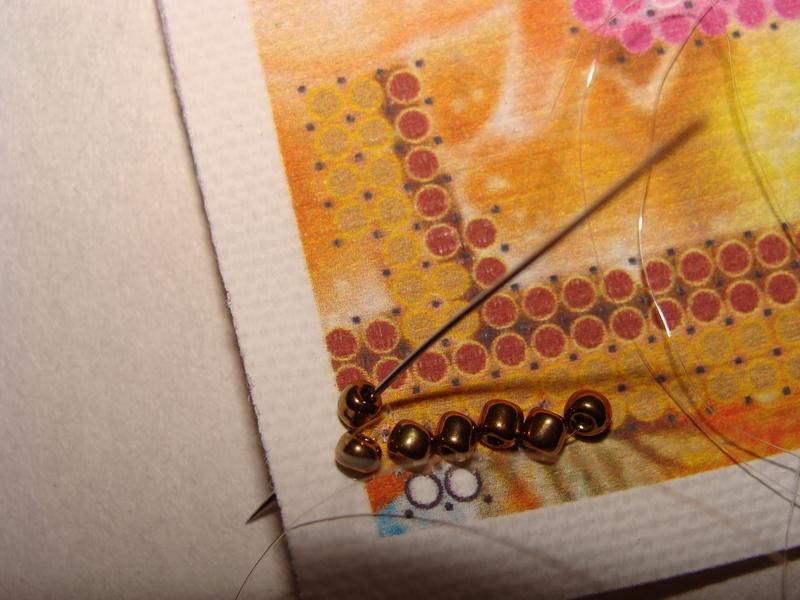 Вышивка бисером стебельчатым швом