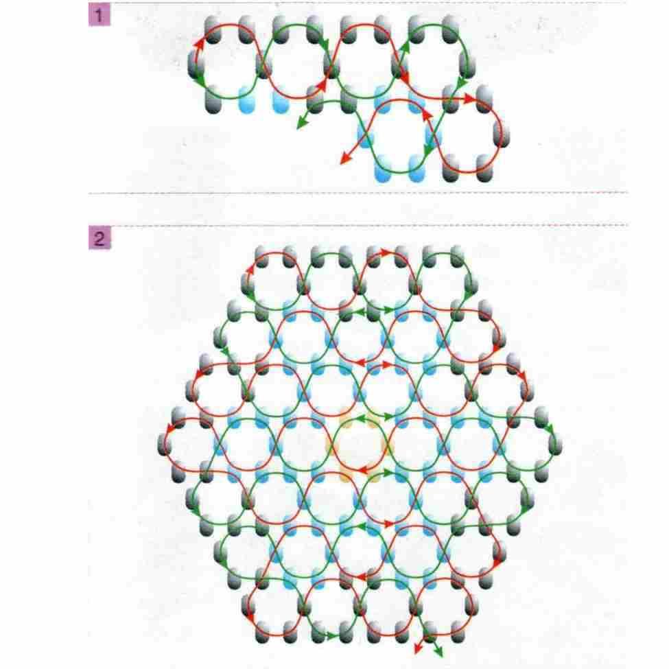 Схема сот из бисера