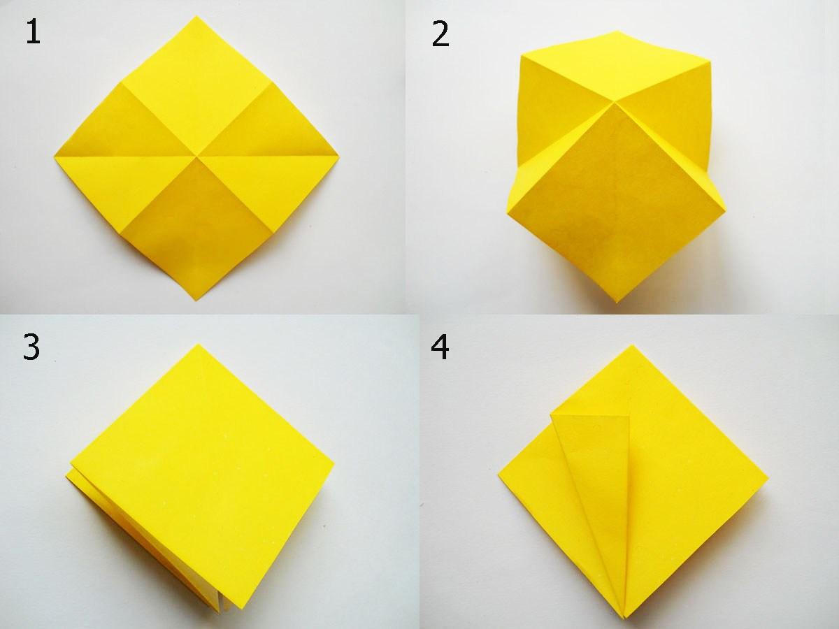 Как из бумаги сделать квадрат подарок