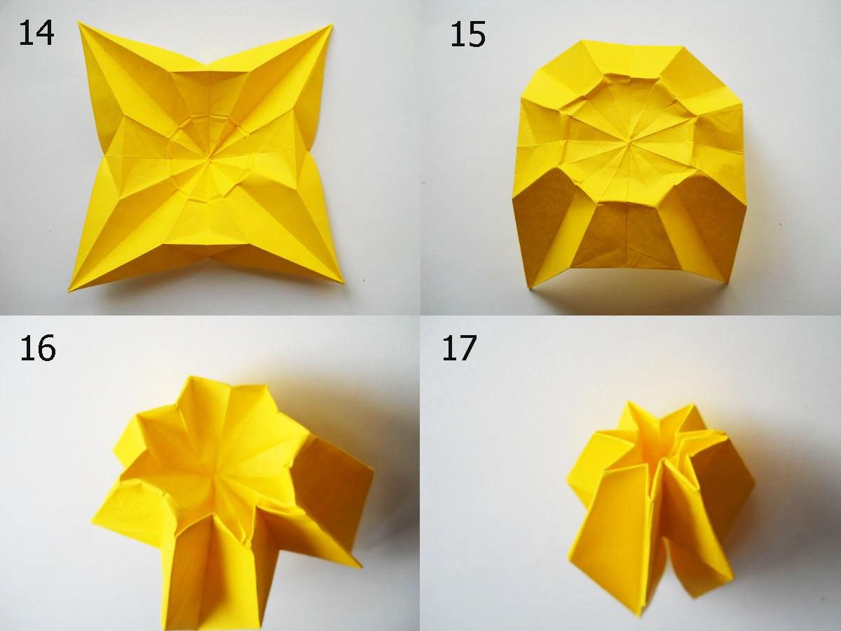 Оригами нарцисс из бумаги