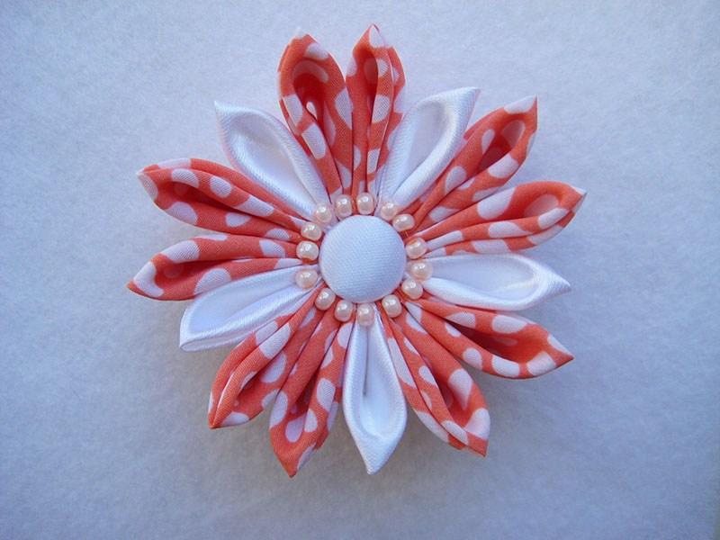 Цветы из ткани канзаши мастер класс с пошаговым фото