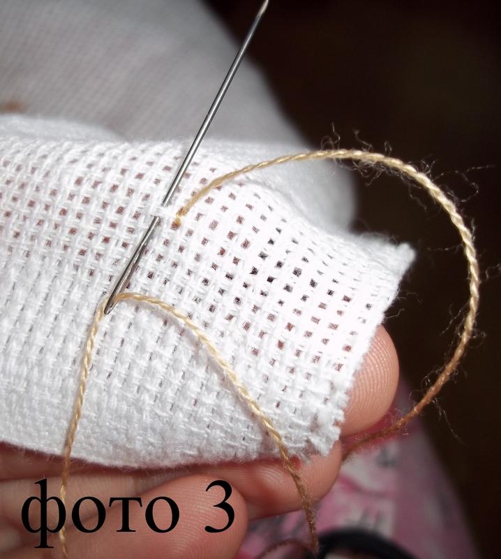 Края канвы для вышивки 878
