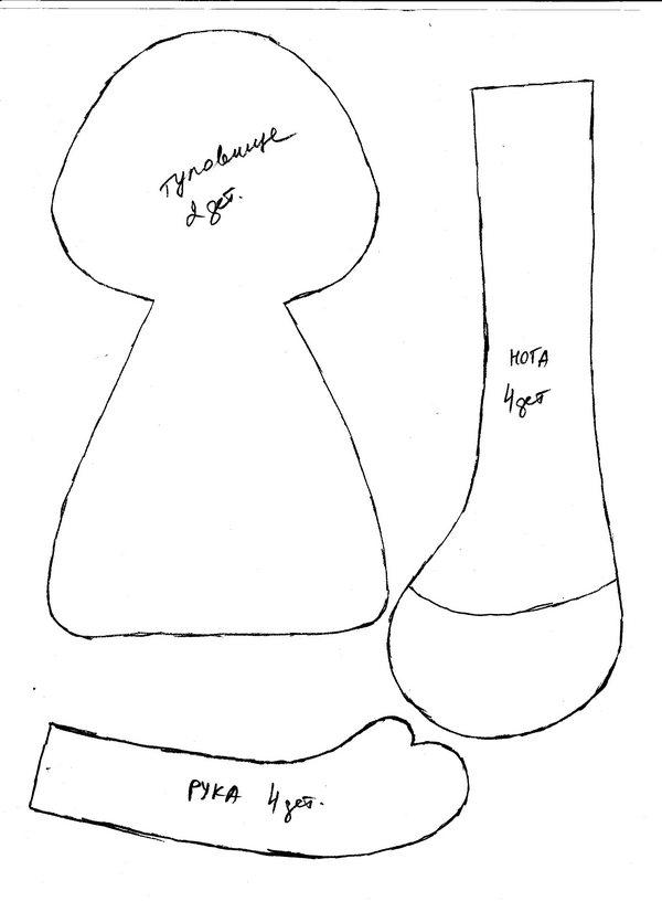 Куклы из текстиля своими руками и выкройки