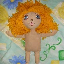 Как сделать трессы для волос кукол из ниток
