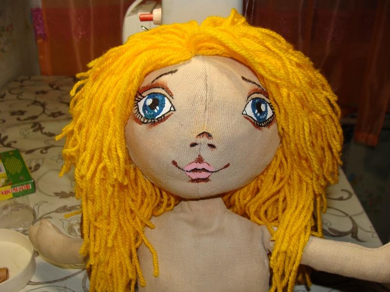 Волосы для куклы из пряжи мастер класс - 83f