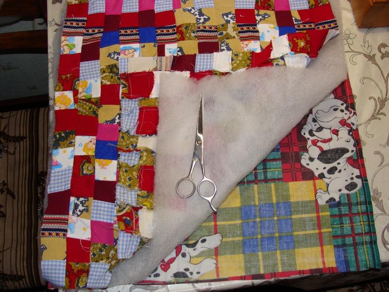 Накидка на табурет шитье
