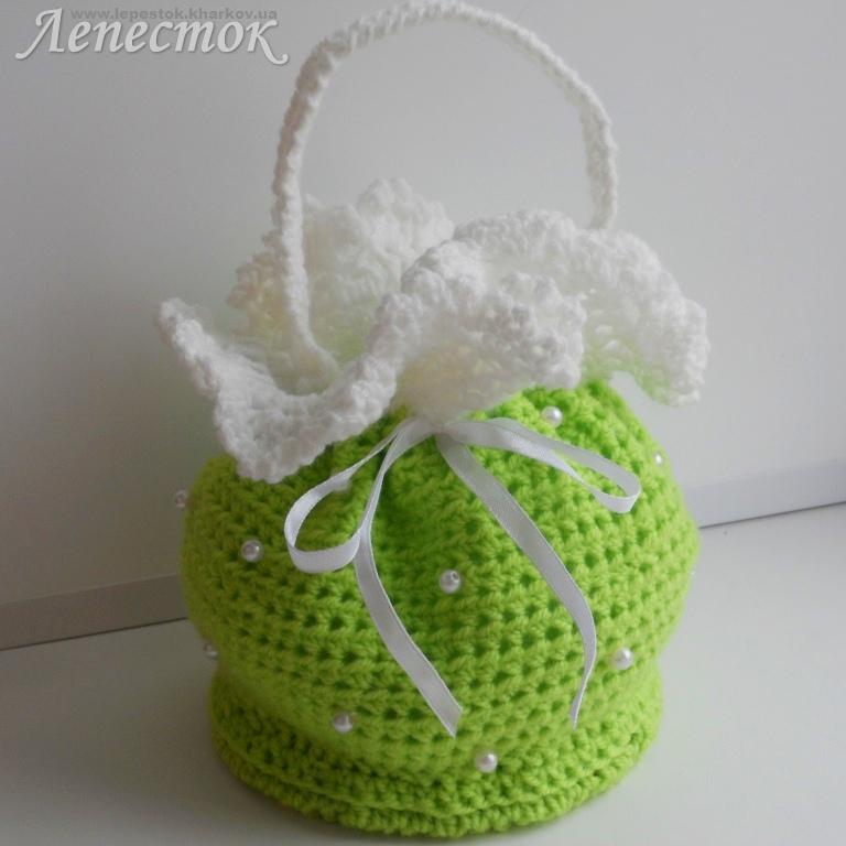 по вязанию детской сумочки